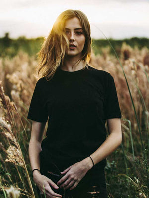 Solid Black T-Shirt (Women)
