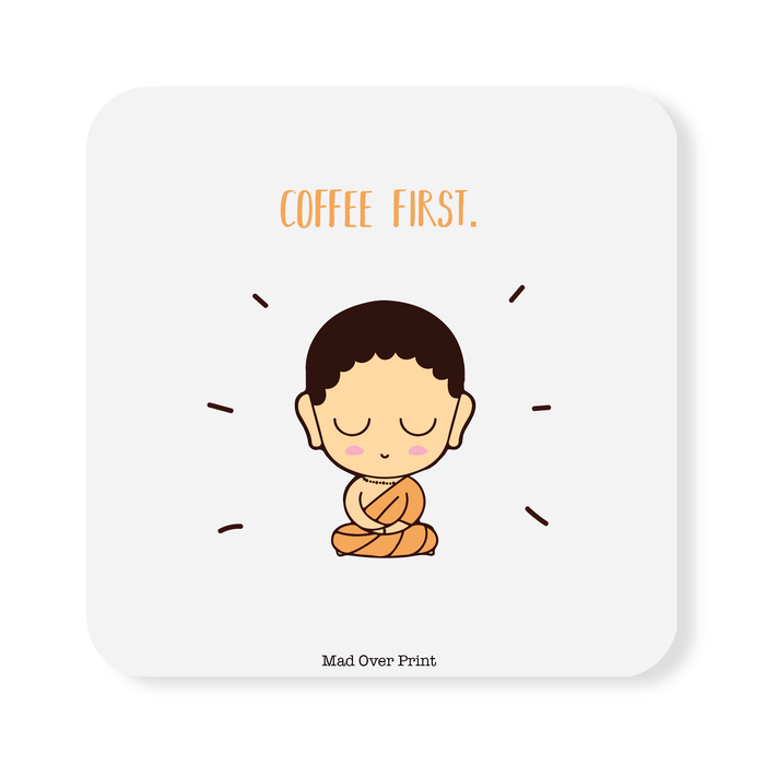 Coffee First Coaster (White)
