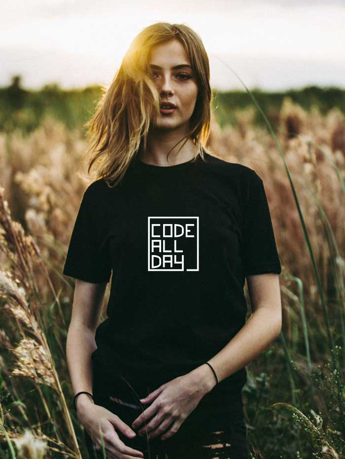 Code All Day T-Shirt (Unisex)