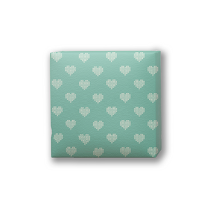 green-heart valentine Packing paper