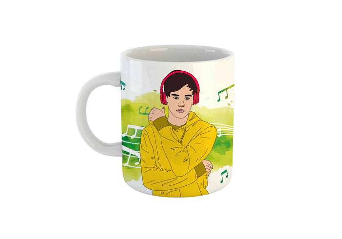 Illustration Mug (Boy & Music)