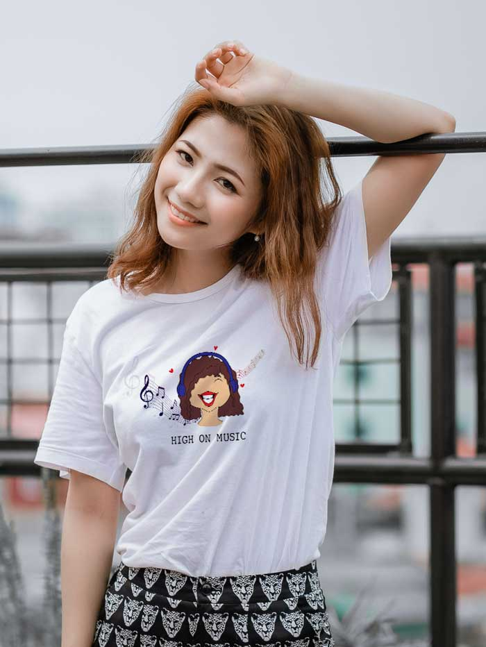High on music T-shirt (women)