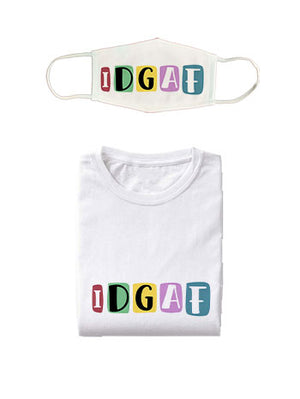 Idgaf T-Shirt-Earloop Combo (unisex)