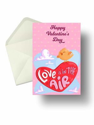 Love-in-the-air valentine card