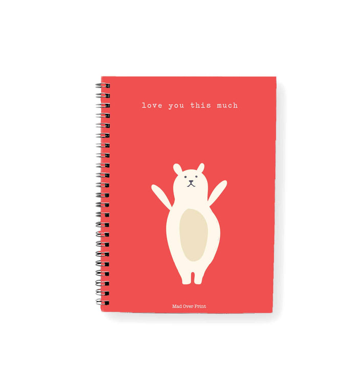 Love-you-this-much valentine Notepad