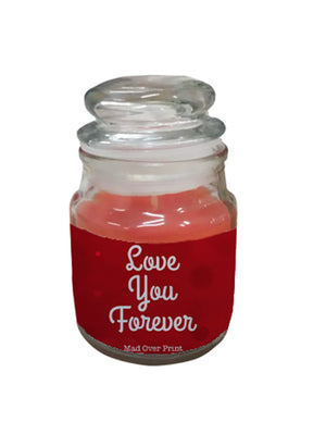 Rose-love-you-forever valentine candle