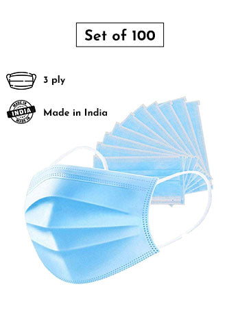 3 - Ply Disposable Face Mask - Pack of 100
