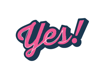 Yes Sticker (Pink)