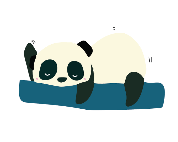 Lazy Panda Sticker