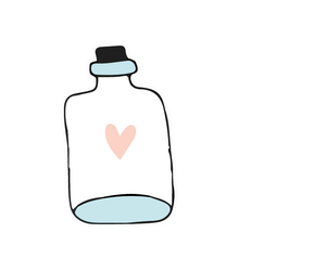 Bottle-Heart Sticker
