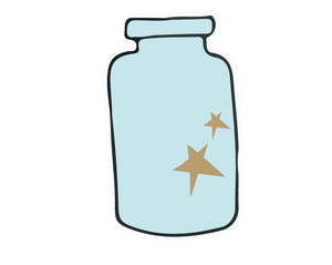 Bottle-Star Sticker