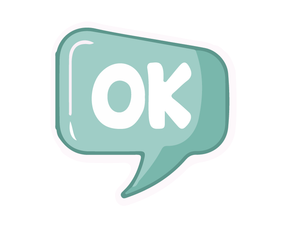 Ok Sticker (Green)