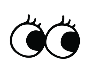 Big Round Eyes Sticker