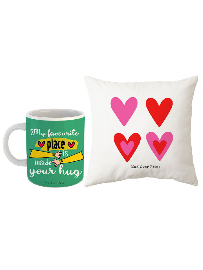 Valentine-mug-cushion Combo-1