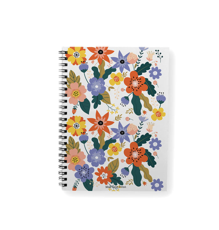 White-floral Notepad