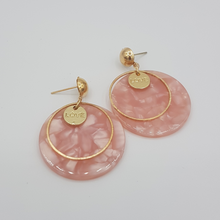 Load image into Gallery viewer, Love Marble Acrylic Earring - Pink