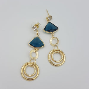 Petra Earrings - Blue