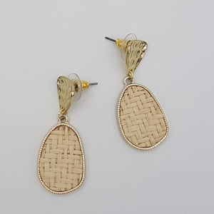 Criss Cross Cream Earrings