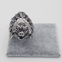 Load image into Gallery viewer, Indian Chief Ring for Men