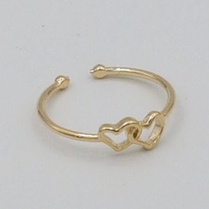 Hearts Ring - Gold / Rose Gold Color