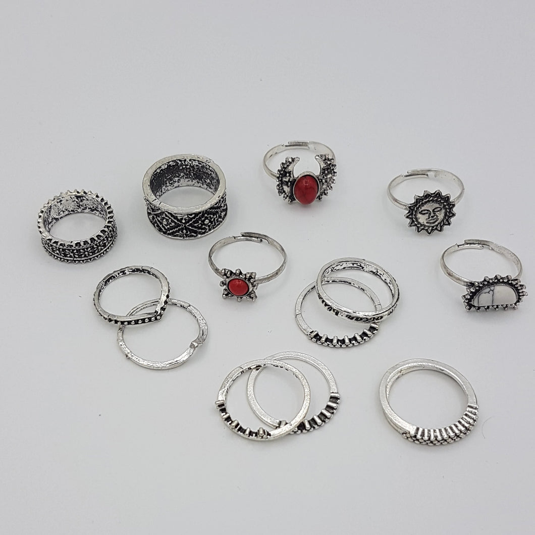 Set of 13 Rings -  different sizes