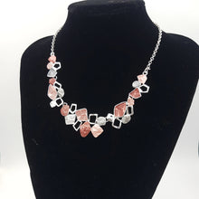 Load image into Gallery viewer, Colorful Necklace, Red Pink Silver