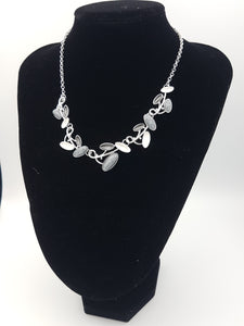 Ovals Colorful Necklace Grey, White & Silver