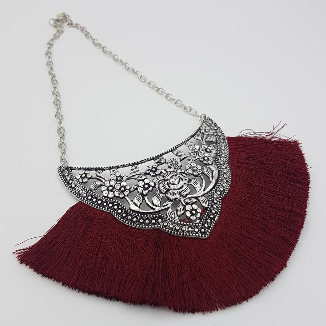 Josephine Necklace - Maroon