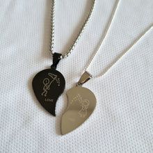 Load image into Gallery viewer, His & Hers Love You pendants