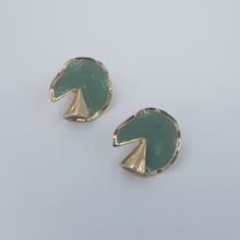 Load image into Gallery viewer, Fold Earrings Green / Yellow / beige  color