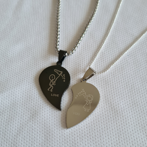 His & Hers Love You pendants