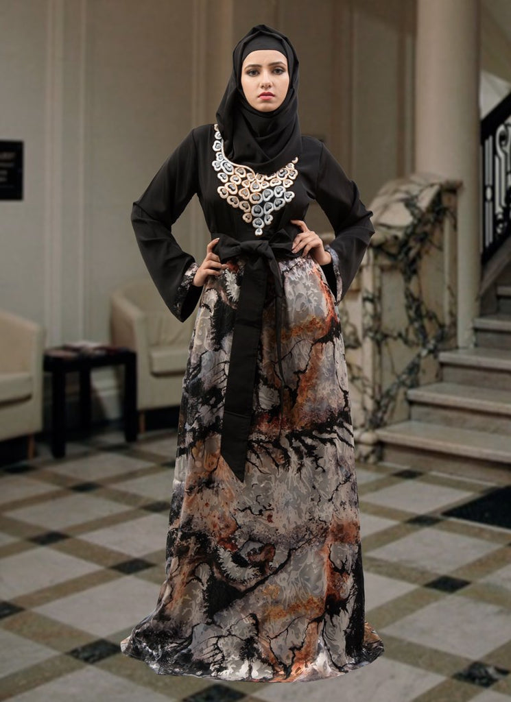 Multicoloured Color Fantastic Arabic Abaya