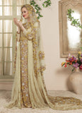 Women Beige Color Wedding Kaftan Dress
