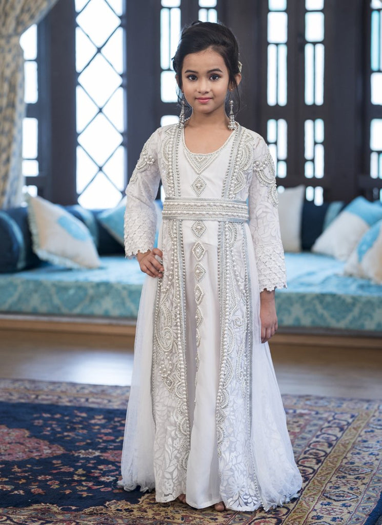 Handmade Islamic Moroccan Long Sleeve Kids Kaftan