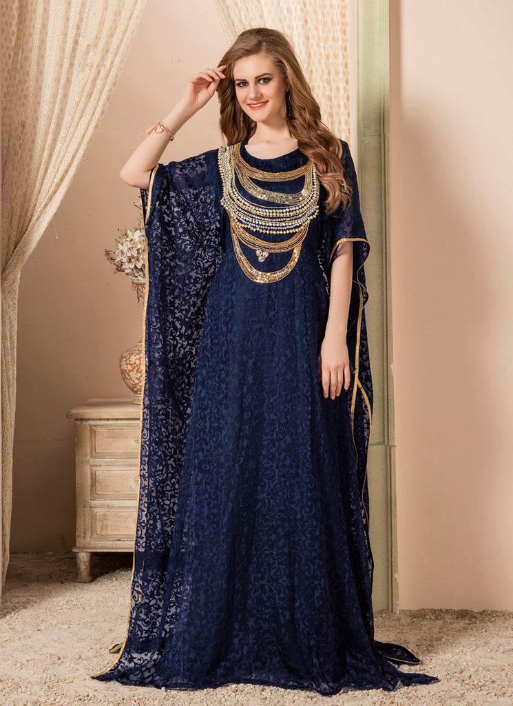 Women Dark Blue color Free Size Kaftan