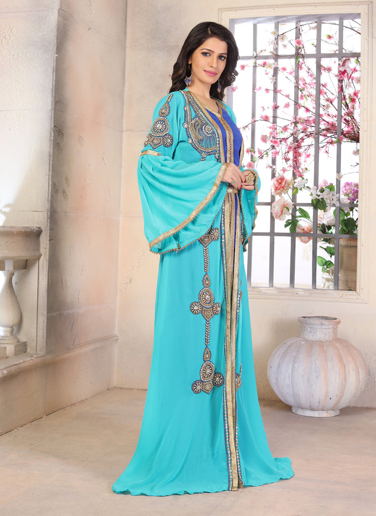 Woman Moroccan Kaftan Wedding Dress