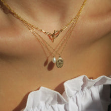 Load image into Gallery viewer, FRESHWATER PEARL NECKLACE - Yellow Gold & Silver
