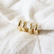 Load image into Gallery viewer, THICK HUGGIE HOOPS - Yellow Gold