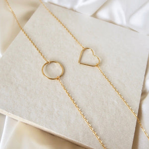 HEART PENDANT NECKLACE - Yellow Gold