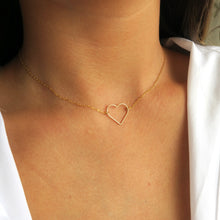 Load image into Gallery viewer, HEART PENDANT NECKLACE - Yellow Gold