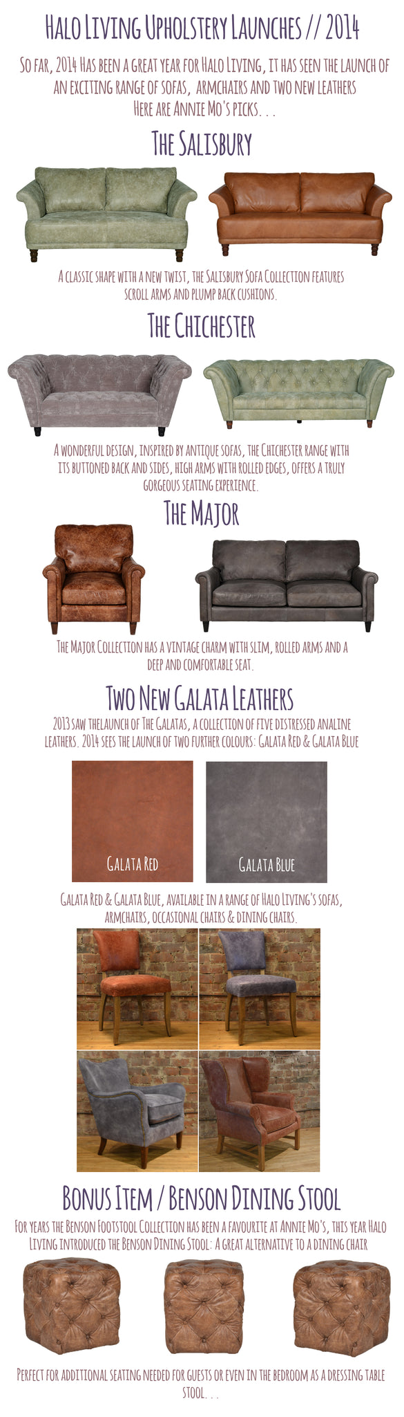 Annie Mo's | Halo Living | New Halo Sofas, Armchairs, Leathers 2014