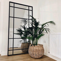 Black Iron Floor Standing Mirror 204cm High