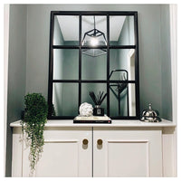 Brockby Small Black Window Mirror | Annie Mo's