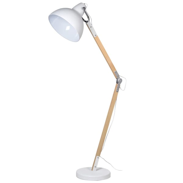 Matt White Adjustable Floor Lamp 178cm | Annie Mo's