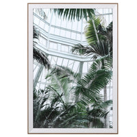 Bright Green Botanical Conservatory Print 98cm | Annie Mo's