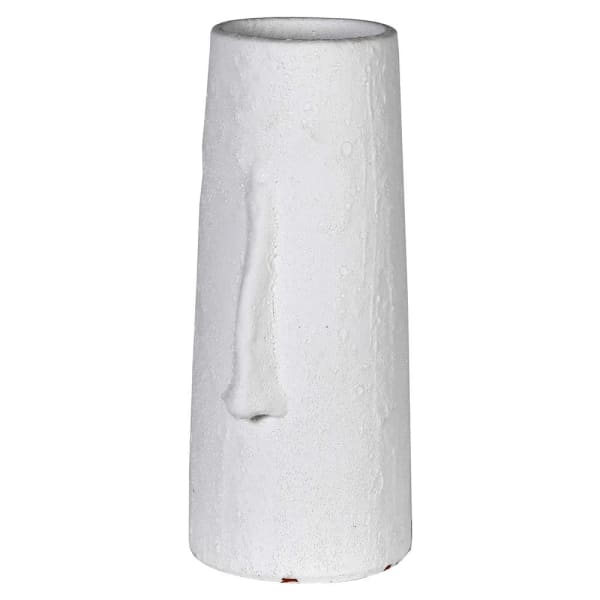 Rough Tall White Face Vase 40cm | Annie Mo's