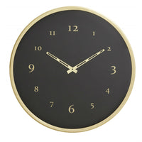 Black and Brass Contemporary Clock 51cm's | Annie Mo's