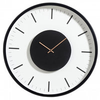 Contemporary Black and White Clock 46cms | Annie Mo's