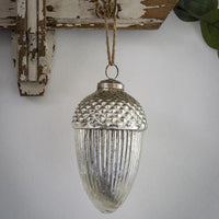 Acorn Antiqued Bauble 13cm | Annie Mo's