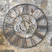 Cogs Metal Clock